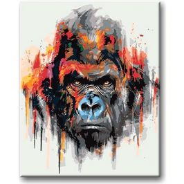 Malování podle čísel - Gorila