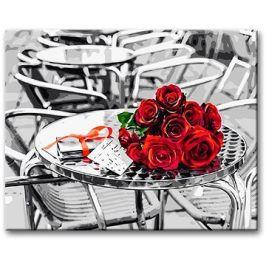 Malování podle čísel - Růže na stole