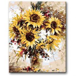 Malování podle čísel - Kytice slunečnic