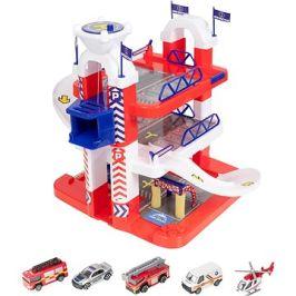 Teamsterz Záchranářská stanice s 5 autíčky