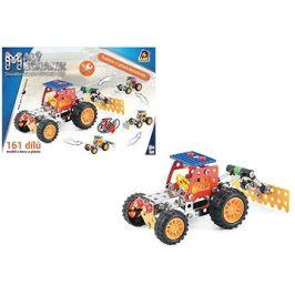 Malý mechanik - traktor s příslušenstvím 4 v 1, 161 ks