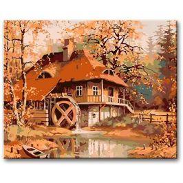 Malování podle čísel - Starý mlýn