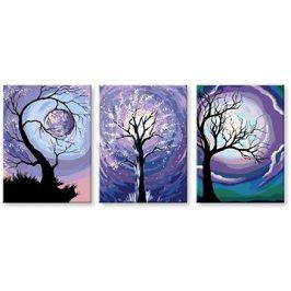 Malování podle čísel - Set fialový měsíc