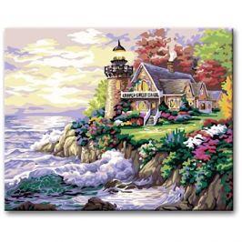 Malování podle čísel - Maják na pobřeží