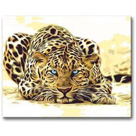 Malování podle čísel - Číhající leopard