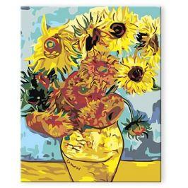 Malování podle čísel - Slunečnice (Van Gogh)