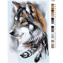 Malování podle čísel - Vlk a peříčka
