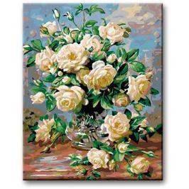 Malování podle čísel - Bílé růže
