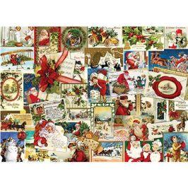 Eurographics Puzzle Vintage vánoční pohlednice 1000 dílků