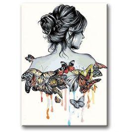 Malování podle čísel - Motýlí žena
