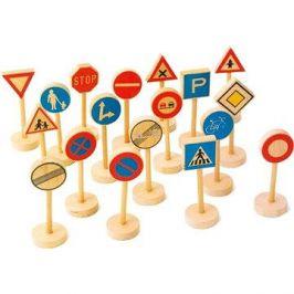 Dřevěné dětské dopravní značky velké