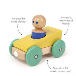 Magnetické autíčko TEGU - Yellow Teal