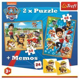 Puzzle 2v1 + pexeso Tlapková patrola