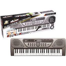 Elektronické klávesy 54 kláves šedé