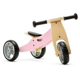 Nicko - Dřevěné odrážedlo 2v1 mini - růžové