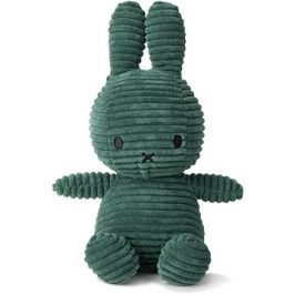 Miffy Sitting Corduroy Dark Green 23 cm