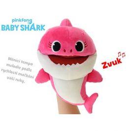 Baby Shark maňásek 23cm růžový s volitelnou rychlostí hlasu