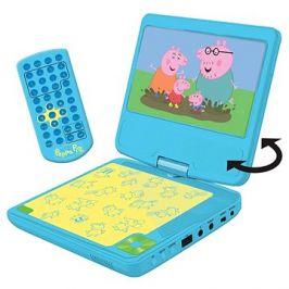 Peppa Pig Přenosný DVD přehrávač 7 s rotující obrazovkou a sluchátky