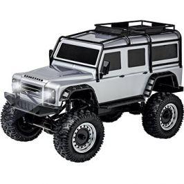 Land Rover Defender rock crawler 4wd 1:8 stříbrný