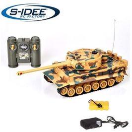 Bojující tank Tiger 1  2,4 GHz s infra dělem, bojující 1:28