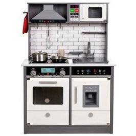 Derrson XL dřevěná kuchyňka se světly a zvuky šedá