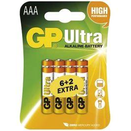 GP Ultra Alkaline LR03 (AAA) 6+2ks v blistru