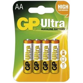 GP Ultra Alkaline LR6 (AA) 4ks v blistru