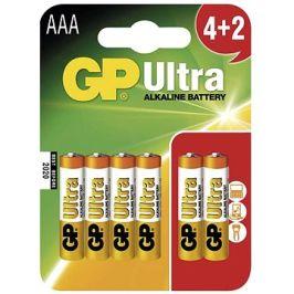 GP Ultra Alkaline LR03 (AAA) 4+2ks v blistru