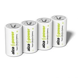 AlzaPower Super Alkaline LR14 (C) 4ks v eko-boxu