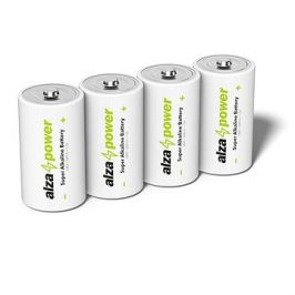 AlzaPower Super Alkaline LR20 (D) 4ks v eko-boxu