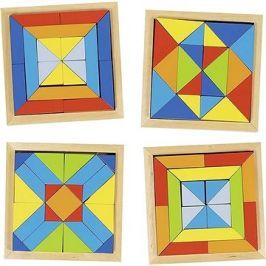 Goki dřevěný hlavolam – mozaika