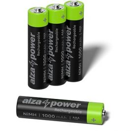 AlzaPower Rechargeable HR03 (AAA) 1000 mAh 4ks v eko-boxu