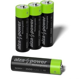 AlzaPower Rechargeable HR6 (AA) 2500 mAh 4ks v eko-boxu