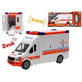 Auto ambulance 27cm na setrvačník se světlem a zvukem a doplňky