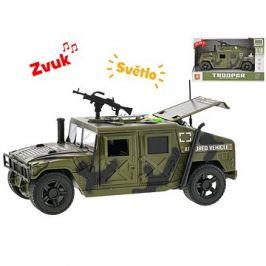 Auto vojenské 23cm 1:16, na setrvačník se světlem a zvukem