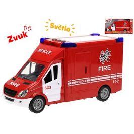 Auto hasiči 27cm na setrvačník se světlem a zvukem