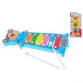 Xylofon medvídek 28cm 2barvy