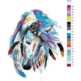 Malování podle čísel - Indiánský kůň 40x60 cm vypnuté plátno na rám