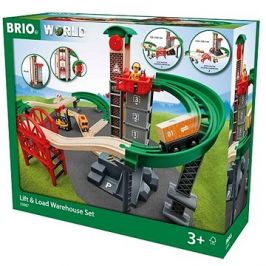 Brio World 33887 Sada Sklad se zvedacím a nakládacím zařízením
