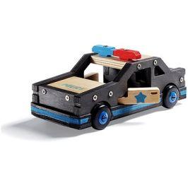 Stanley Jr.K096-SY Stavebnice, policejní auto, dřevo