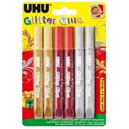 UHU Glitter Glue 6 x 10 ml X-mas