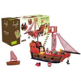 Jouéco dřevěná pirátská loď