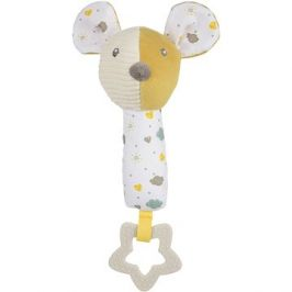 Canpol babies Hebká pískací činka s kousátkem Mouse