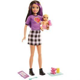 Barbie Chůva Skipolly Pocketer + miminko a doplňky