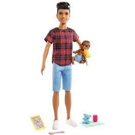 Barbie Chůva Ken + miminko a doplňky