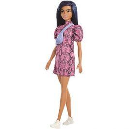 Barbie Modelka - Šaty se vzorem hadí kůže