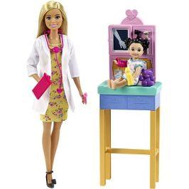 Barbie Povolání dětská doktorka blondýna