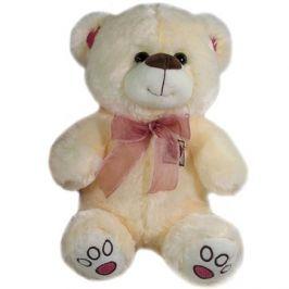 Medvěd s mašlí Béžový - 40 cm