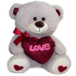 Medvídek se srdcem Love - 30 cm Šedý