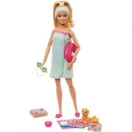 Barbie Wellness Panenka v modré osušce